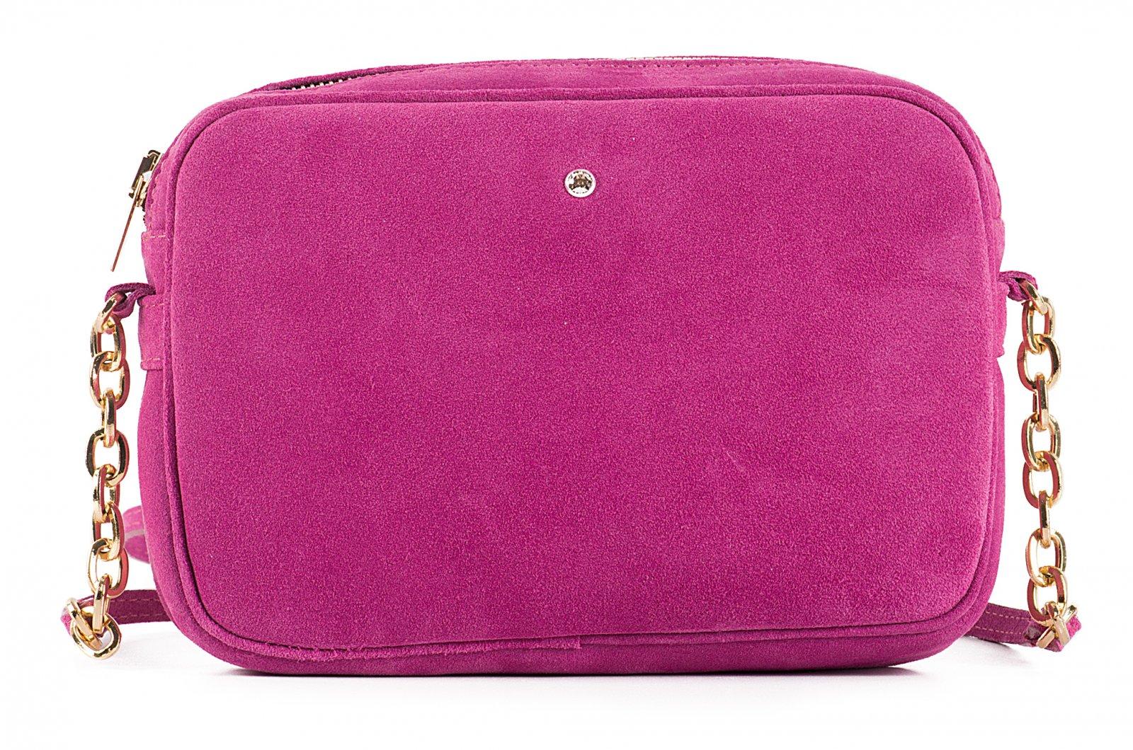 Malé dámské semišové kožené kabelky 31304/Z40 Petronela růžové Wojewodzic