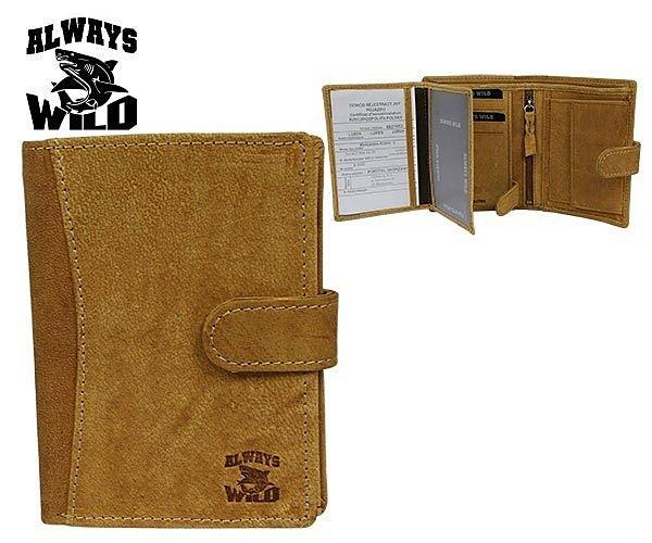Kožená peněženka Always wild kapučíno 8N4L-H TAN