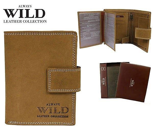Značková kožená peněženka Always wild písková 8N4L-MHU-02