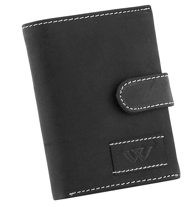 Značková kožená peněženka Always wild černá 8N4L WA2-02
