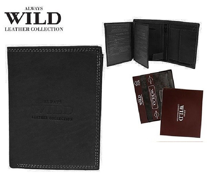 Značková peněženka Always wild černá 8N4-MHU