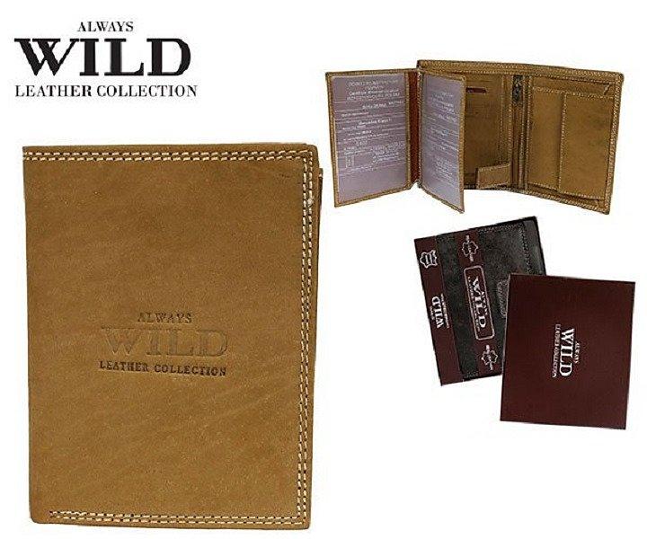 Značková peněženka Always wild písková 8N4-MHU-02