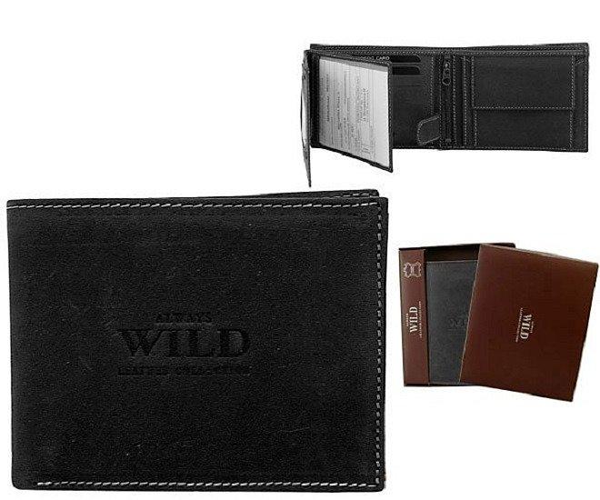 Značková peněženka Always wild černá 8N992-MHU