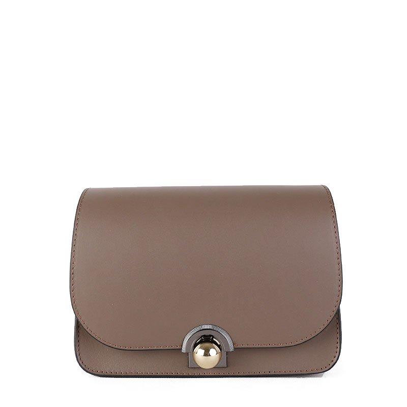 ITALSKÉ Kožená kabelka luxusní crossbody Italská béžová Elisa