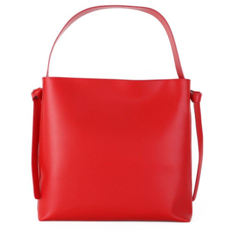 ITALSKÉ Kožená kabelka přes rameno Italská červená Sonia