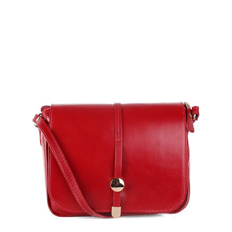 ITALSKÉ Červené kožené kabelky z Itálie Aurelia