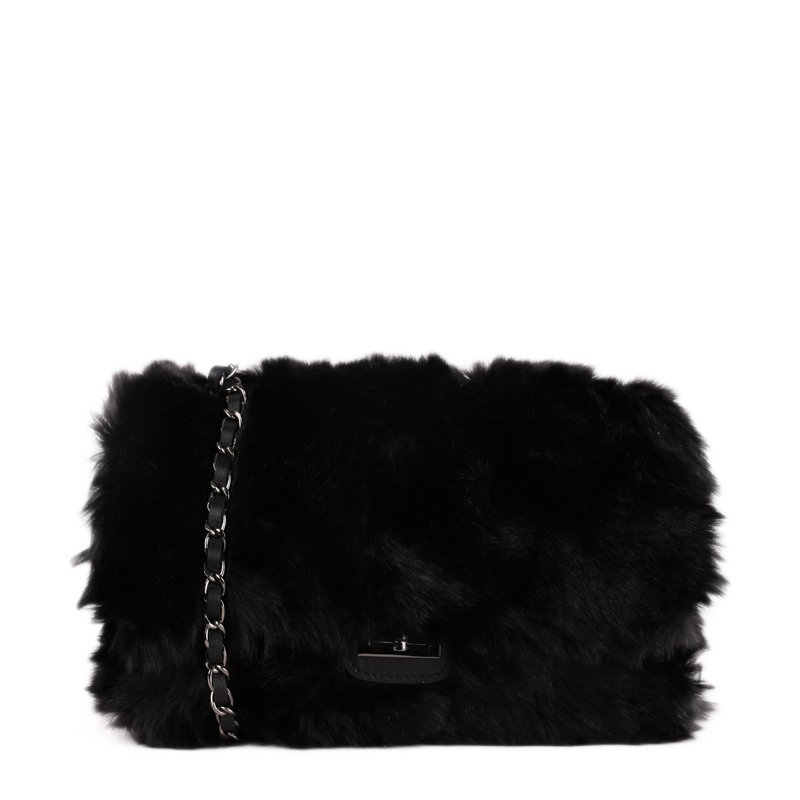ITALSKÉ Trendová kožená kabelka Italská černá Miriam