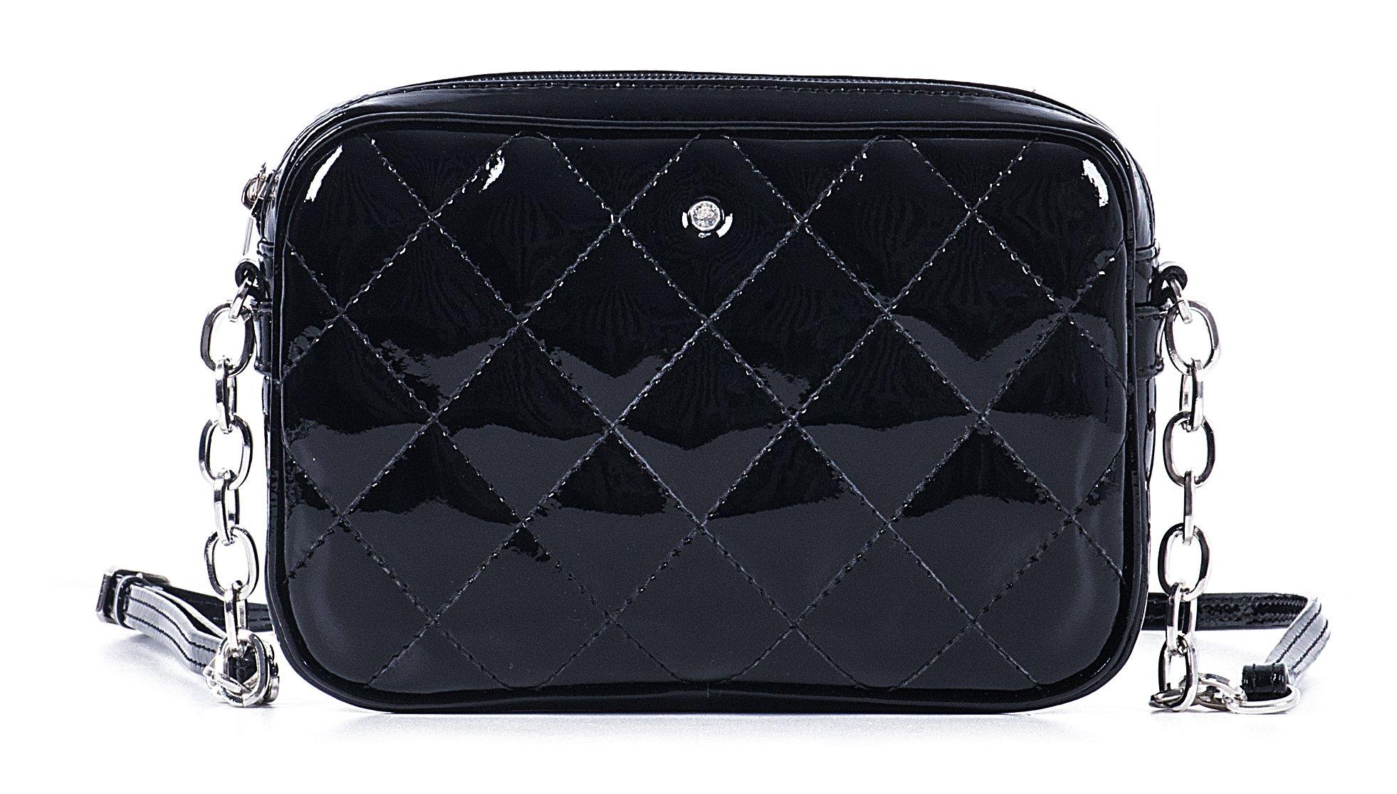 Luxusní černé lakované kožené psaníčko Petronel 31304/P/PL01 Wojewodzic