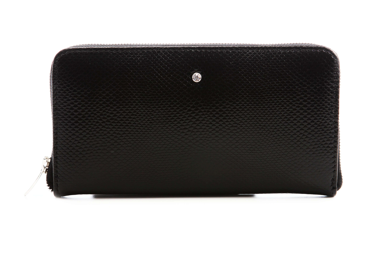 Luxusní kožené peňeženky na zip černé3PD61/PC01/PL01 Wojewodzic