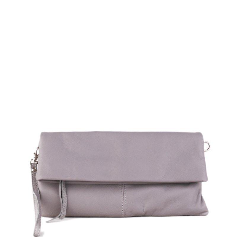 ITALSKÉ Kožená crossbody kabelka z Itálie šedá Violeta