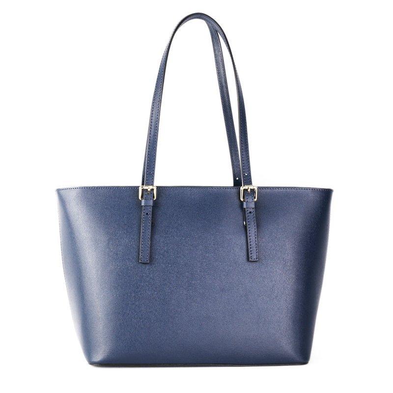 Kožené kabelky přes rameno Italské Zoe modrá