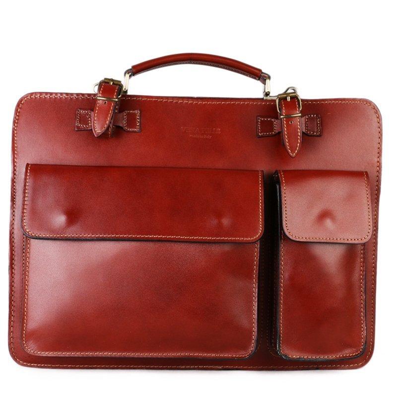 ITALSKÉ Kožená taška do ruky Vera Pelle medová Ermin