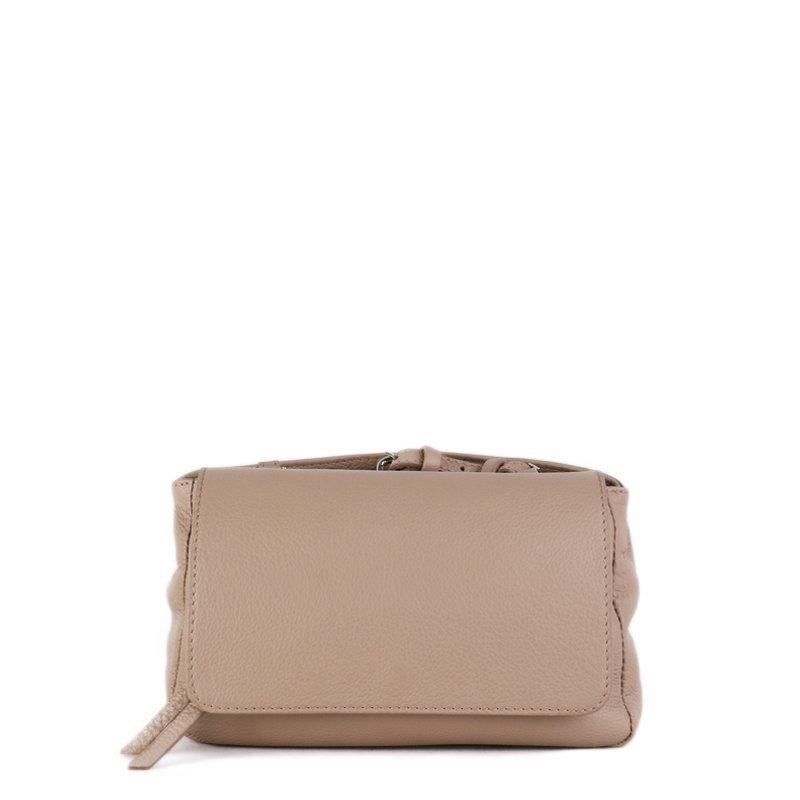 Krásné kožené kabelky Vera Pelle z Itálie béžové Lalia