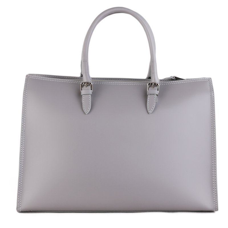 Business kožené kabelky do ruky Vera Pelle z Itálie Calvina šedé