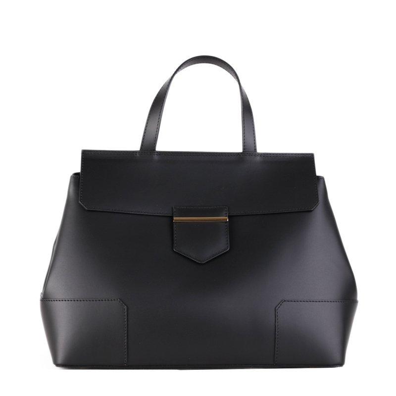 Kožené kabelky do ruky Vera Pelle Dafne černá