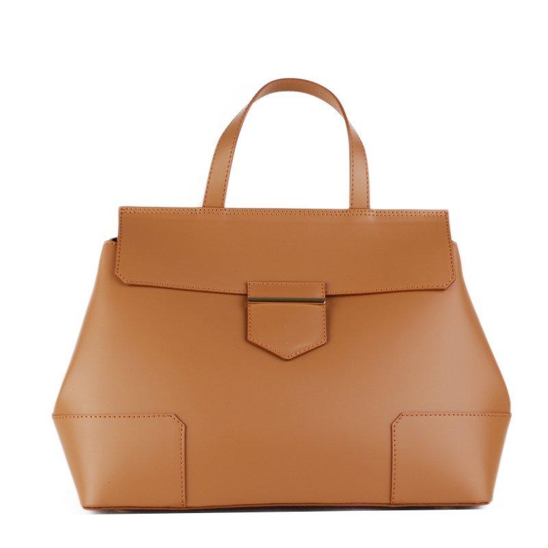Kožené kabelky do ruky Vera Pelle Dafne camel