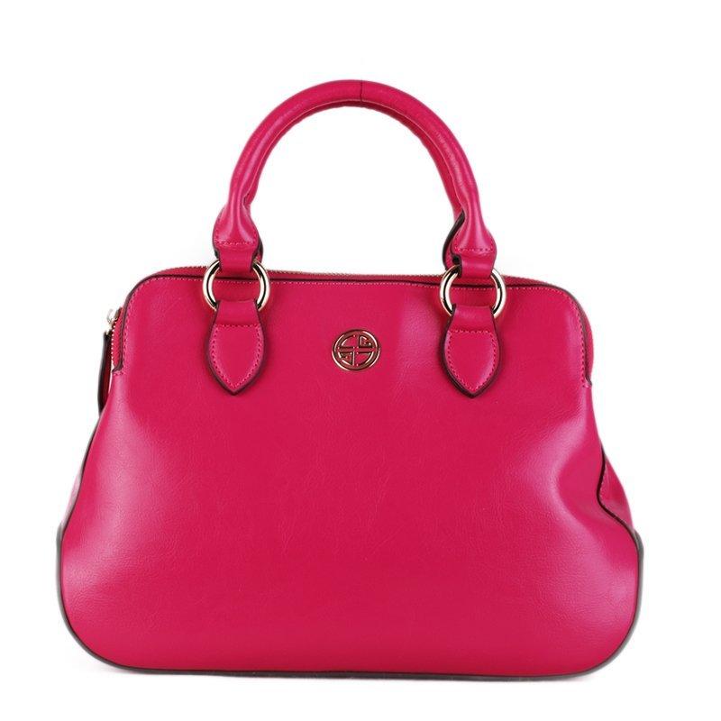 Trendové kožené kabelky do ruky Charo Garcia růžová