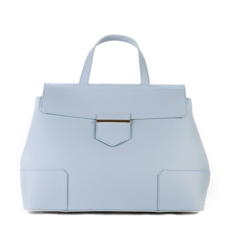 Kožené kabelky do ruky Vera Pelle modrá Dafne