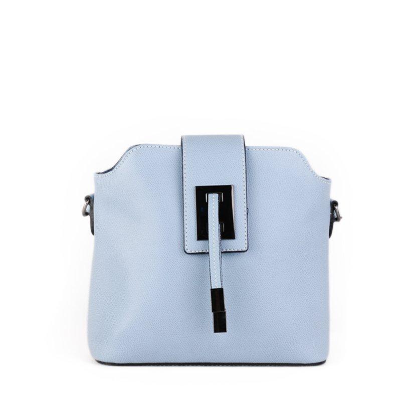 Italské kožené kabelky crossbody jemně modré Zaira