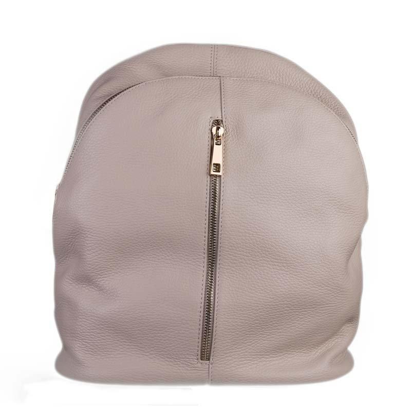VERA PELLE Kožený batoh do školy z Itálie Nicola taupe
