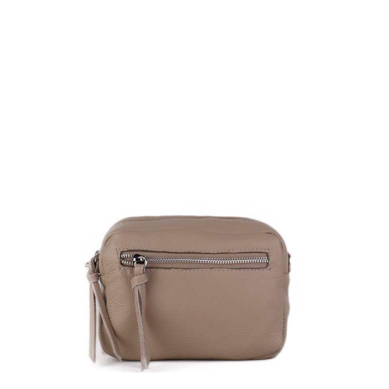 ITALSKÉ Béžová kožená kabelka z Itálie Melisa