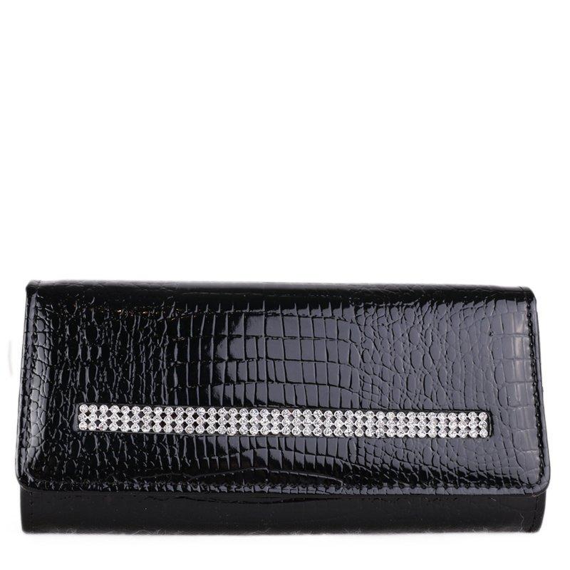CAVALDI Černá luxusní kožená kabelka Loren DL 13 CRY RS Black