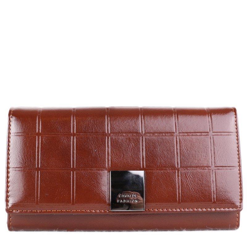 CAVALDI Luxusní hnědá kožená peněženka P27-3 Brown