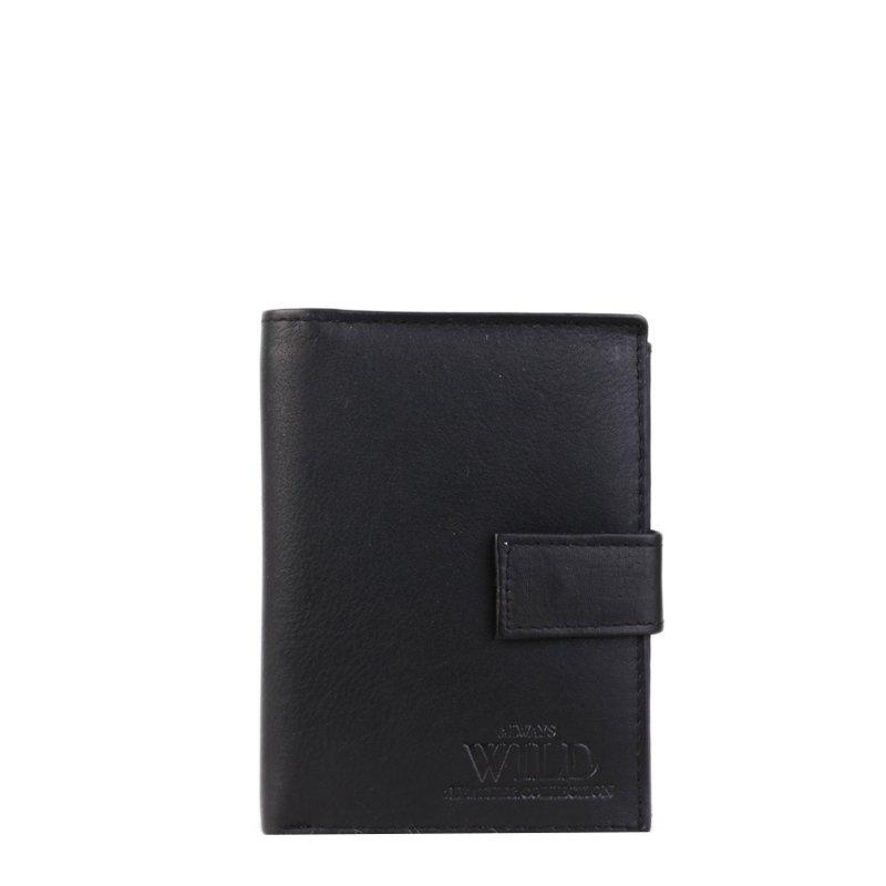 Černá pánská kožená peněženka Always Wild N890L-CCF Black