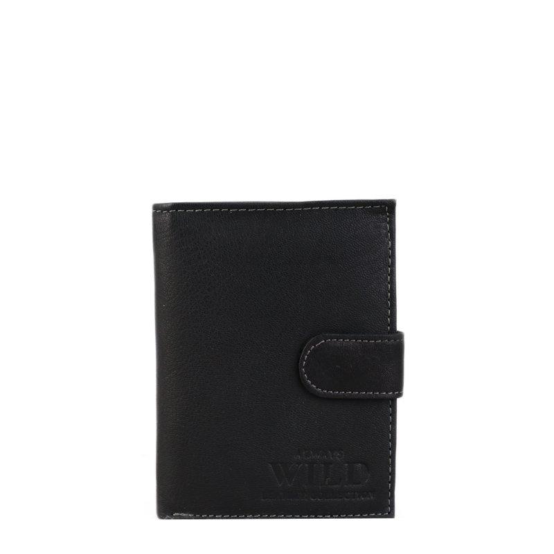 Levná kožená peněženka pro pány Always wild černá N4L GU Black