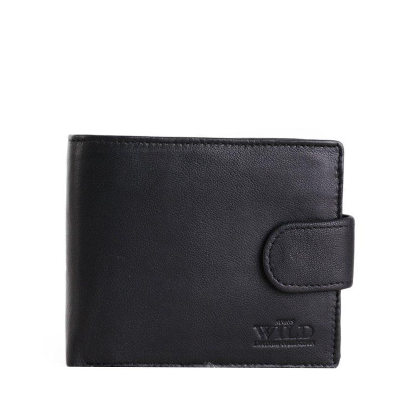 ALWAYS WILD Levná černá kožená peněženka N992-L-OW black