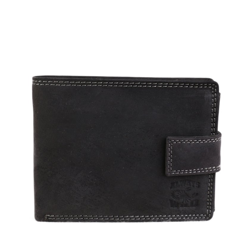 Levné černé pánské kožené peněženky Always Wild N992-L-ALH black