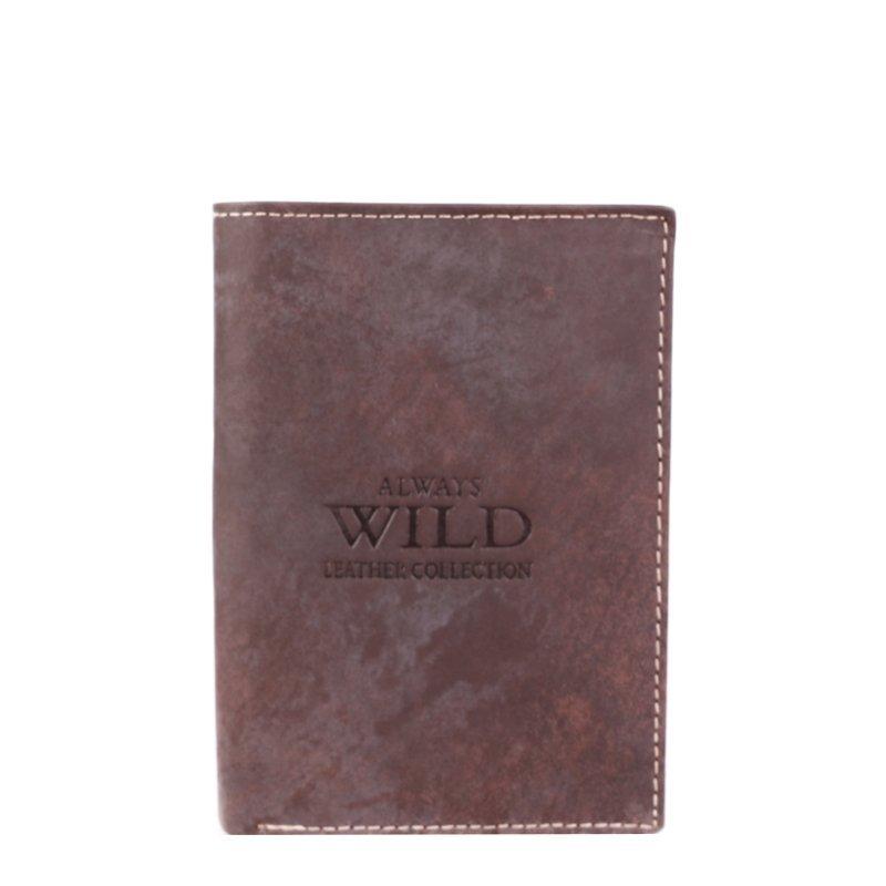 Levná kožená peněženka Always Wild hnědá 8N4 MHU Brown