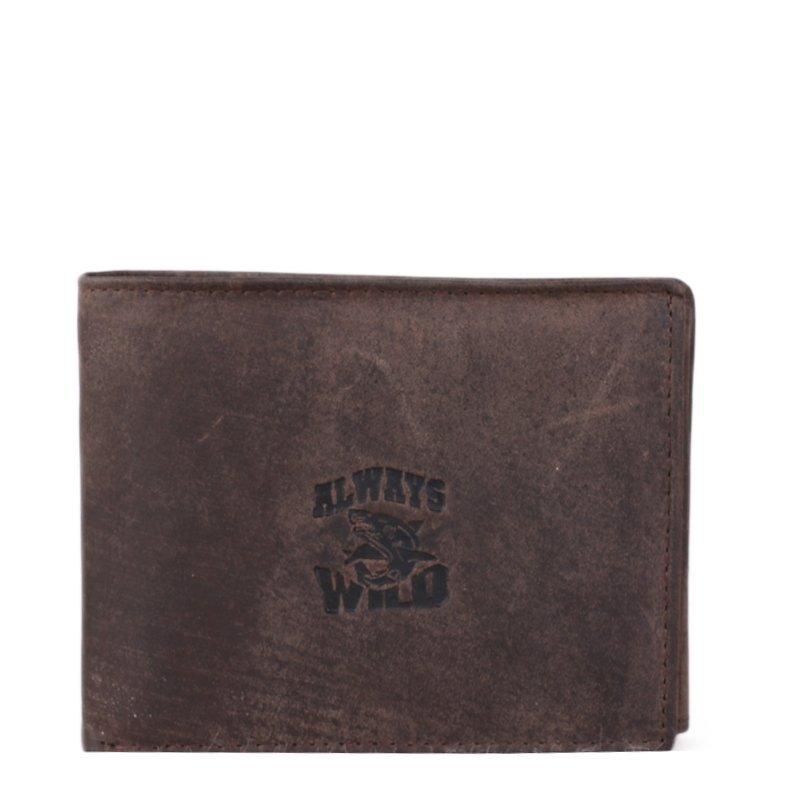 ALWAYS WILD Kožená peněženka hnědá 8N4-AFL Brown