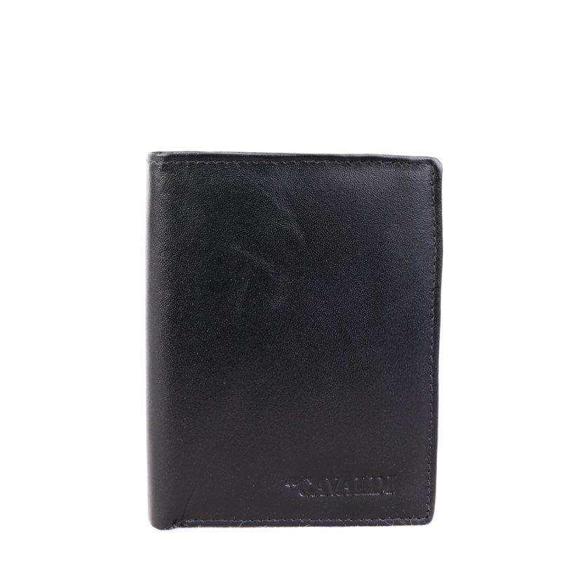 CAVALDI Pánské kožené peňeženky černé 80800 BS Black