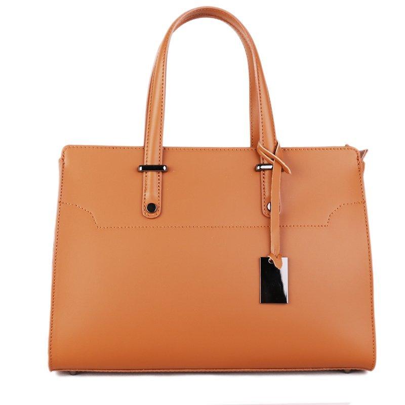 ITALSKÉ Luxusní kožené kabelky z Itálie camel Aurora