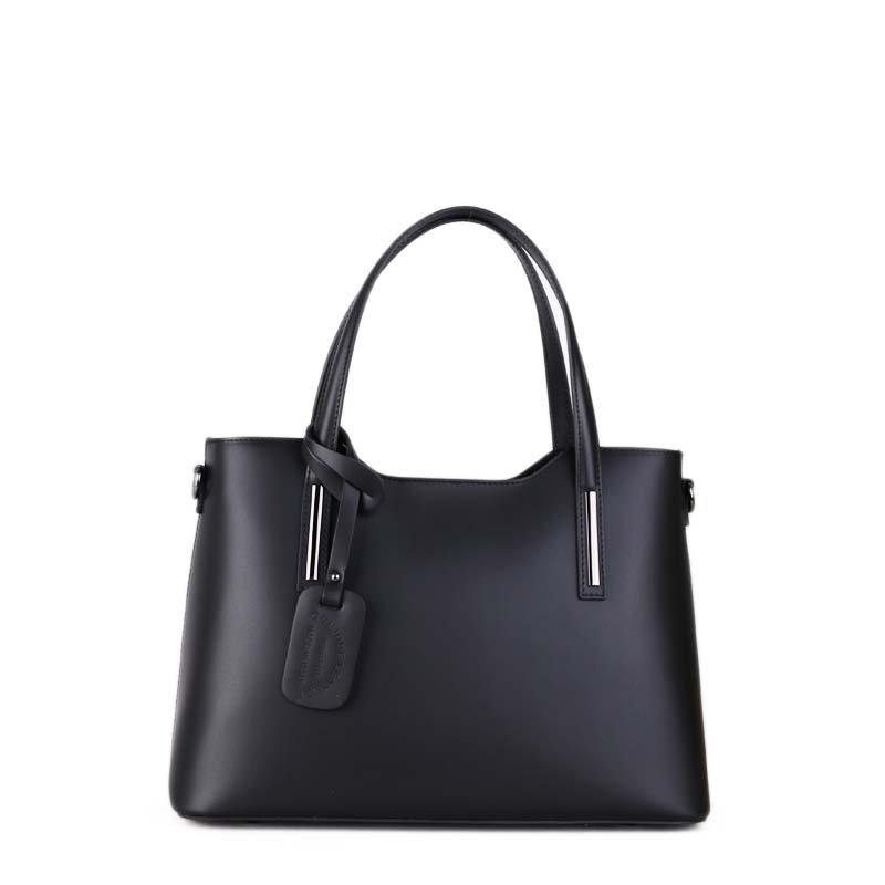 elegantní kožená kabelka Caitlin černá