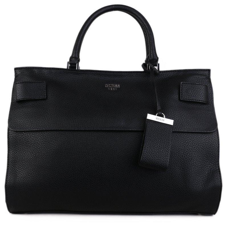 Černé velké značkové kabelky Guess VG678107