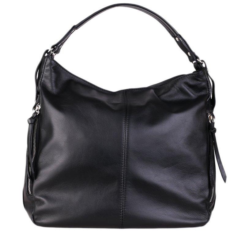 ITALSKÉ Kožené kabelky Vera Pelle černé Amelia