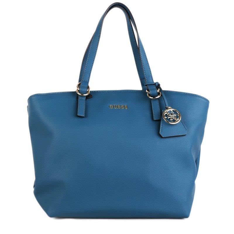 Značkové kabelky Guess shopperky HWTULIP7223EME modré