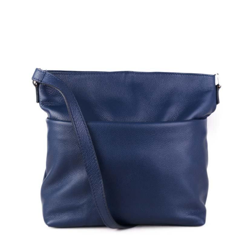 ITALSKÉ Modré kožené kabelky crossbody pro mladé holky Ilona