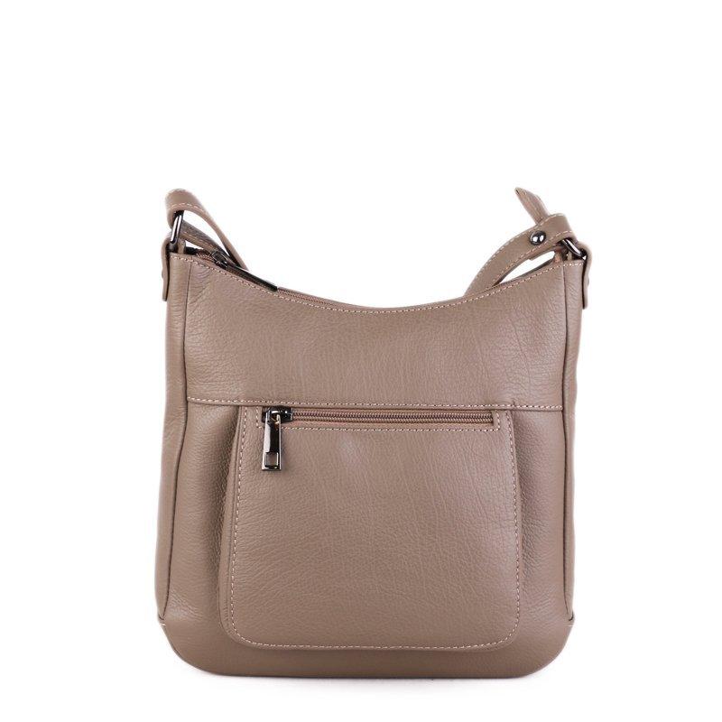 ITALSKÉ Kožené elegantní dámské kabelky v taupe barvě Zolana