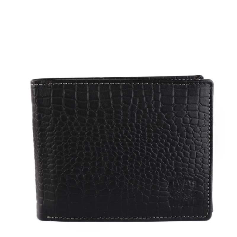 ITALSKÉ Levné černé kožené peněženky pro pány N992-CN