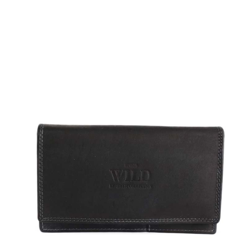 Černé kožené peněženky Always Wild 440CV black