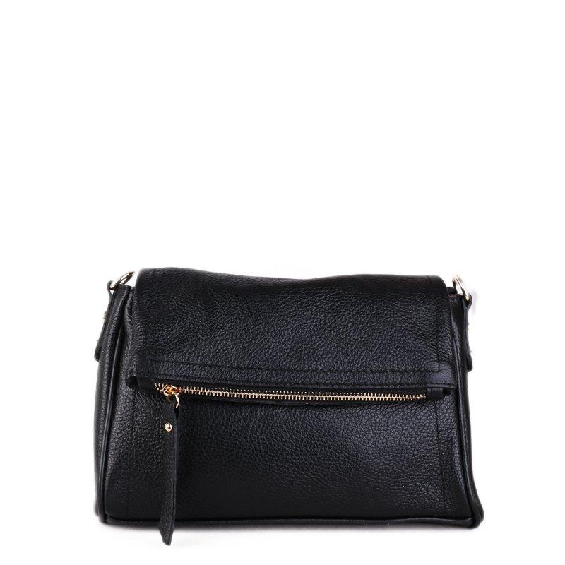 ITALSKÉ Černé kožené crossbody kabelky Vera Pelle z Itálie Osmana