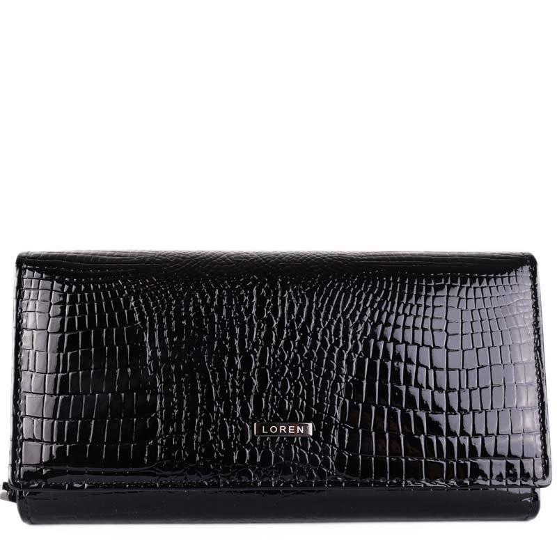 Levné černé kožené peněženky Loren 72035-RS Black