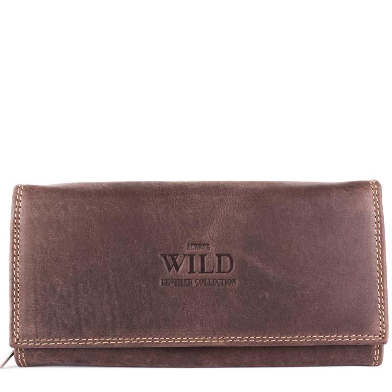 Levné dámské kožené peňeženky Always wild N22-MH brown