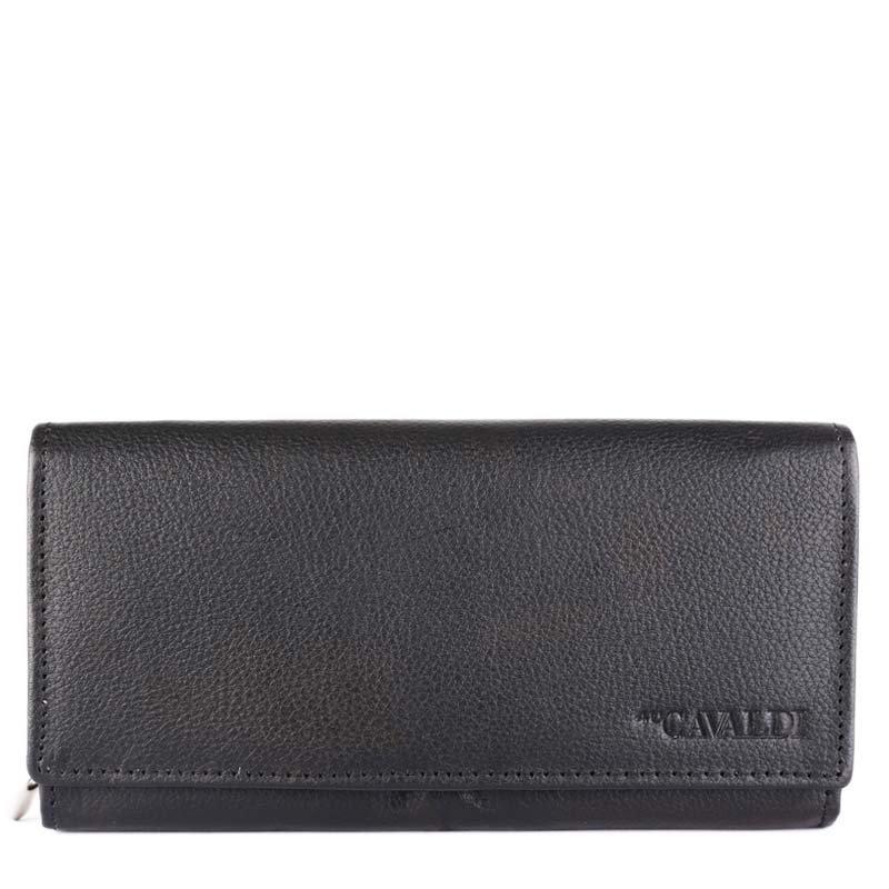 Levné černé dámské kožené peněženky Cavaldi N22-PDM black