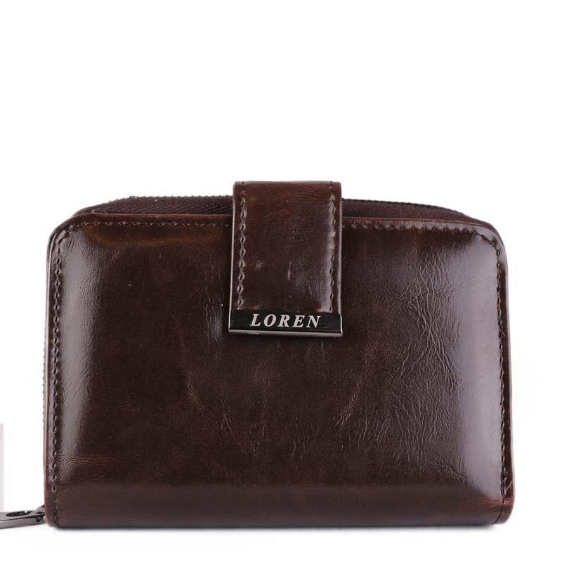 Hnědé dámské kožené peněženky Loren WP03 brown