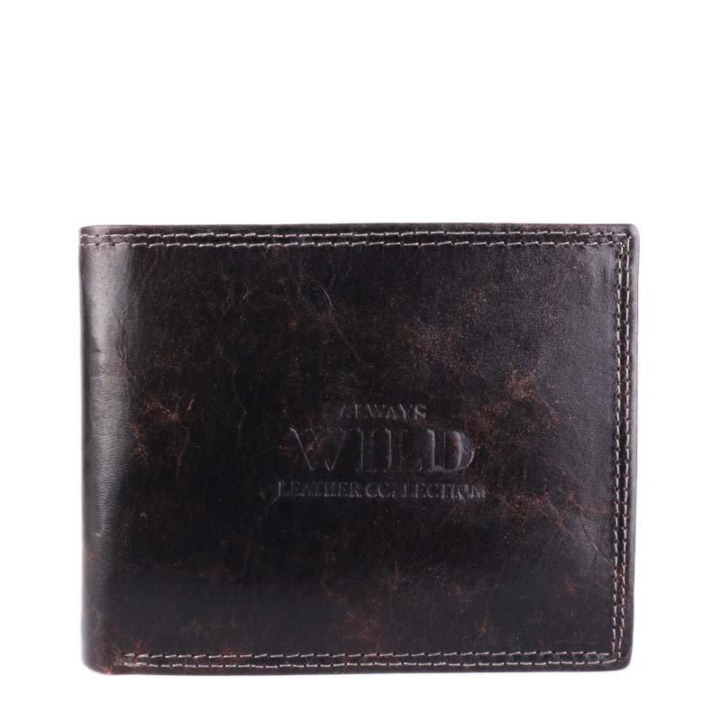 Černé pánské levné kožené peněženky Always Wild N992-MCR