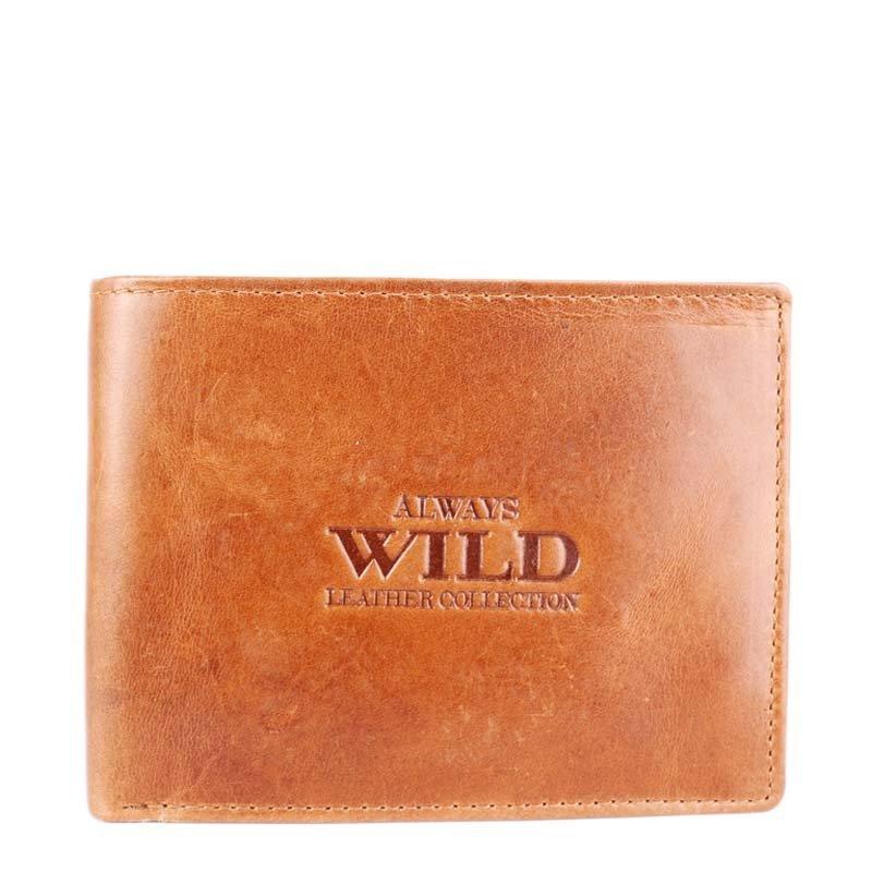 Hnědé pánské kožené peněženky Always Wild 992 MVT CON
